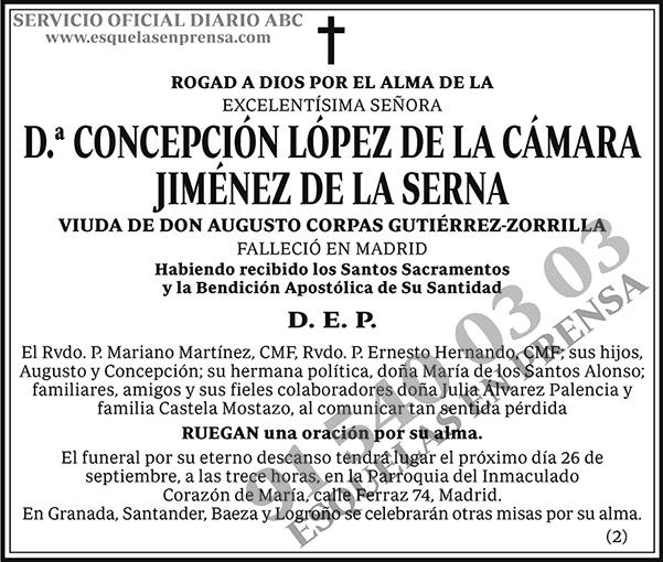 Concepción López de la Cámara Jiménez de la Serna